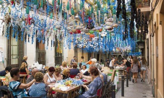 Las fiestas de Gracia en Barcelona